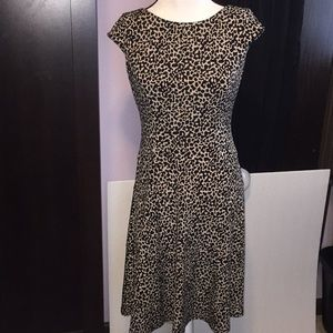 Anne Klein animal print leopard dress. Size 2.